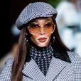 A modelo Winnie Harlow desfilou pela grife Tommy Hilfiger para a NYFW 2020