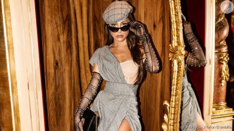 Sabrina Sato escolheu um look retrô para a reinauguração da nova loja de Dolce & Gabbana em Milão neste sábado, 21 de setembro de 2019