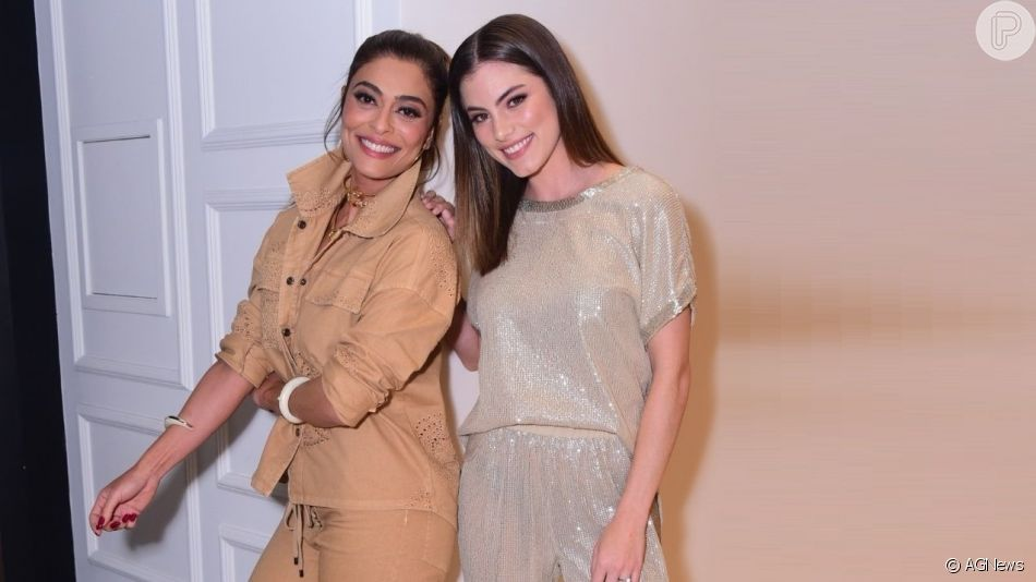 Juliana Paes e Bruna Hamú usam looks com tendências em evento de moda nesta quinta-feira, 26 de setembro de 2019