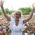 Ana Maria Braga comemou os 459 anos de São Paulo, em janeiro de 2013, com programa ao ar livre
