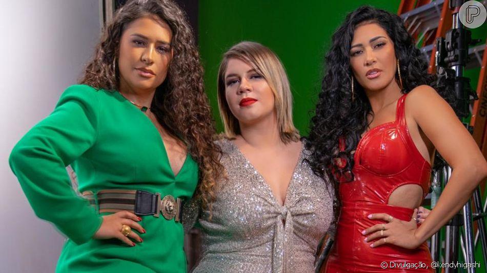 Marília Mendonça chama atenção por look glam em clipe  'O Que É O Que É?' com Simone e Simaria nesta terça-feira, dia 01 de outubro de 2019
