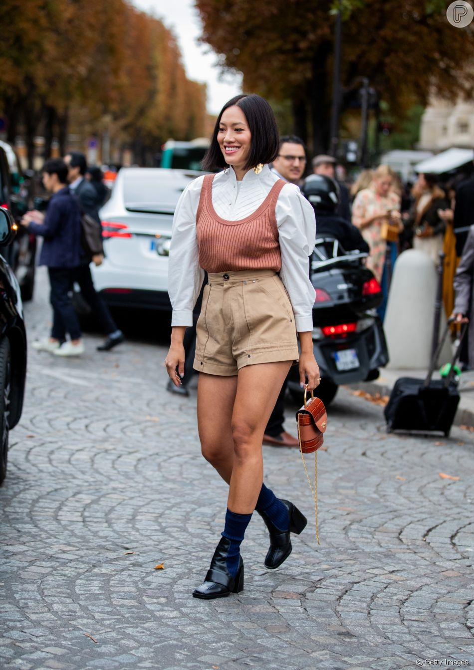 Por ser mais fresco, o short de alfaiataria pode substituir o short jeans no verão