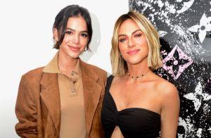 Bruna Marquezine elogia Giovanna Ewbank e filha em foto na praia: 'Perfeitas'