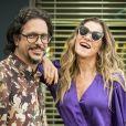 Solvana (Ingrid Guimarães) e Mário (Lucio Mauro Filho) se beijam na novela 'Bom Sucesso'