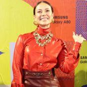 Paolla Oliveira elege mood leather monocromático em Prêmio: 'Ousar um pouco'