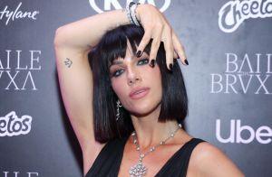 De lace, Giovanna Ewbank inova com cabelo curto e preto em festa de halloween