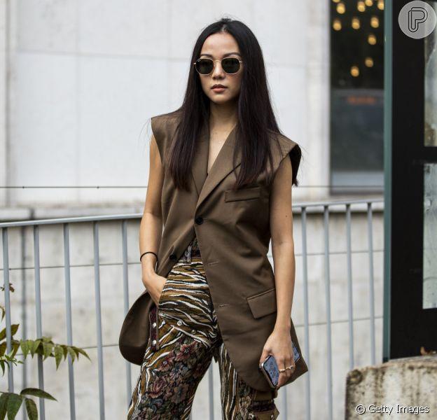 Tendência de moda: colete jeans e em alfaitaria aparecem nos looks das fashionistas. Inspire-se!