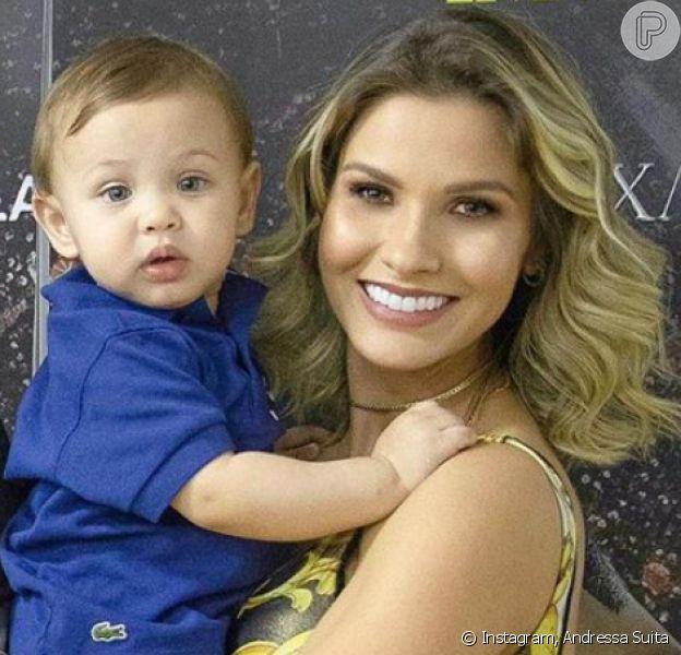Andressa Suita e Gusttavo Lima mataram saudade dos filhos nesta segunda-feira, 4 de novembro de 2019