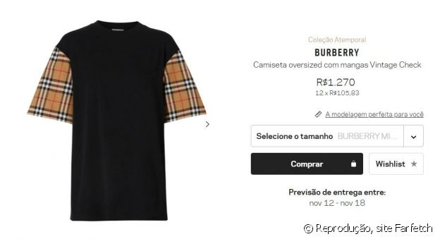 Blusa da grife Burberry usada por Isis Valverde