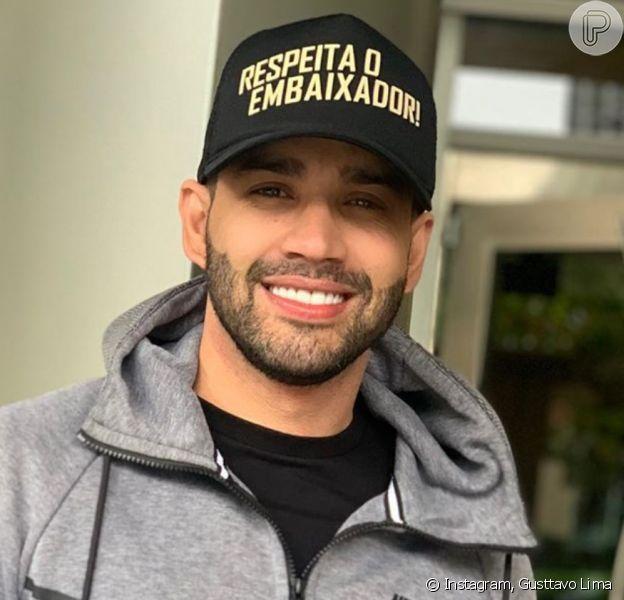 Mudança no visual de Gusttavo Lima chamou atenção em foto na web nesta segunda-feira, 18 de novembro de 2019