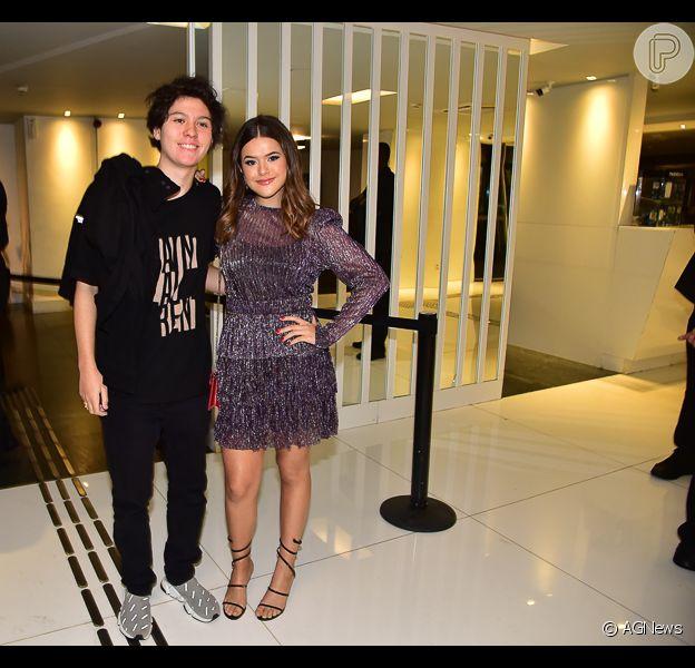 Maisa Silva eNicholas Arashiro prestigiam festa de 19 anos de Larissa Manoela, em São Paulo, na noite deste domingo, 08 de dezembro de 2019