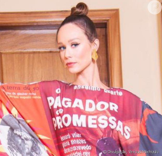 Mariana Ximenes protesta contra aAgência Nacional do Cinema com look exclusivo para a abertura do Festival do Rio