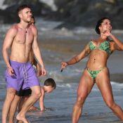 Aline Riscado dá mergulho no mar e joga altinha com Léo Picon em Noronha. Fotos!