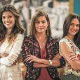 Na novela 'Salve-se Quem Puder', Alexia/Josimara (Deborah Secco), Luna/Fiona (Juliana Paiva) e Kyra/Cleyde (Vitória Strada) decidem fugir para São Paulo no capítulo de sábado, 8 de fevereiro de 2020