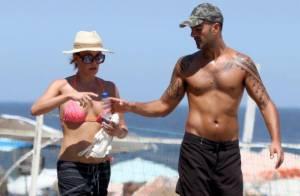 Carolina Ferraz, após reatar com Marcelo Marins, se exercita com o namorado