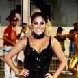 Ex-BBB Munik Nunes arrasou em ensaio técnico de Carnaval neste sábado, 8 de fevereiro de 2020