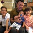 Pai de Cristiano Araújo se declarou para o neto João Gabriel nas redes sociais