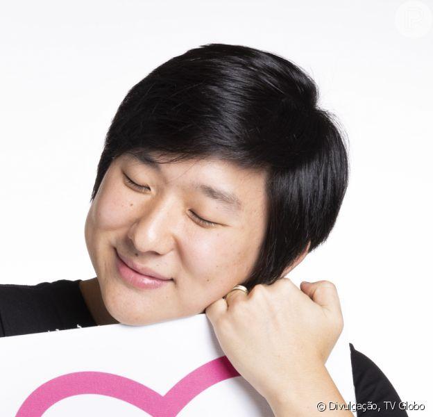 Filho de Pyong, do 'BBB20', esbanjou fofura em foto da mãe, Sammy: 'Lindo até tampando o rosto'