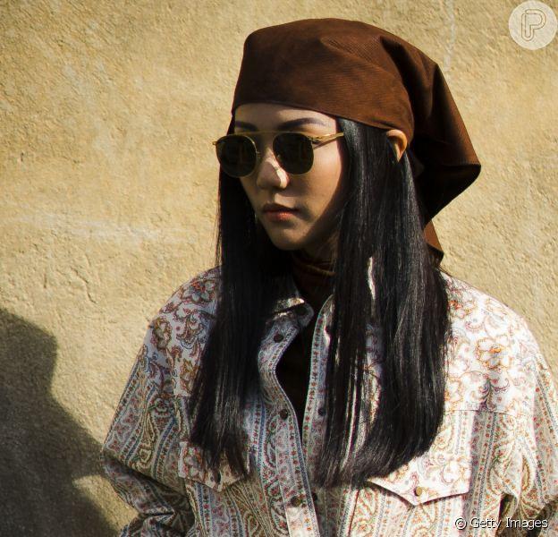 O lenço está bombando nas semanas de moda internacionais