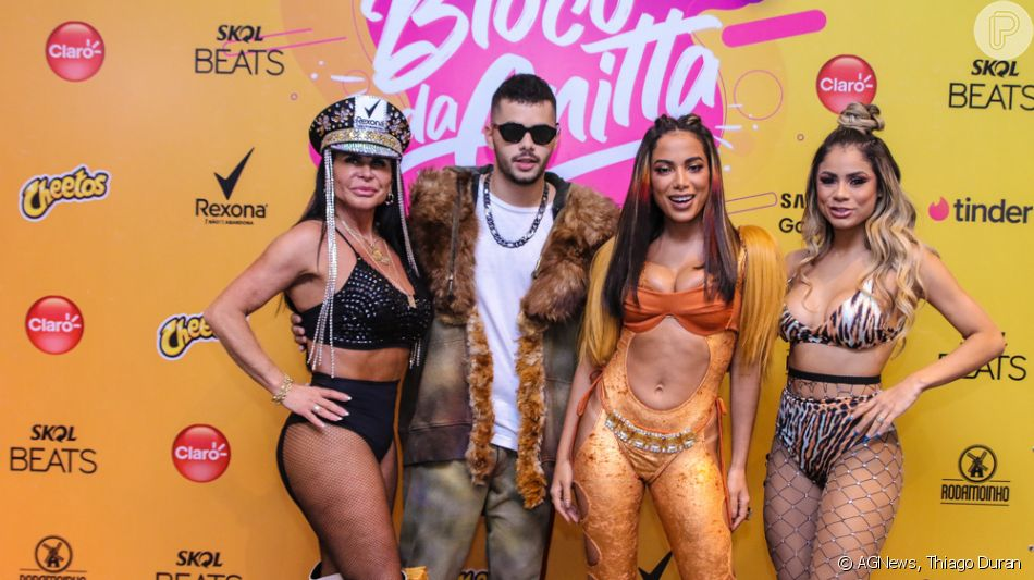 De mico leão, Anitta recebe Gretchen em bloco e encerra Carnaval em São Paulo neste domingo, dia 01 de março de 2020