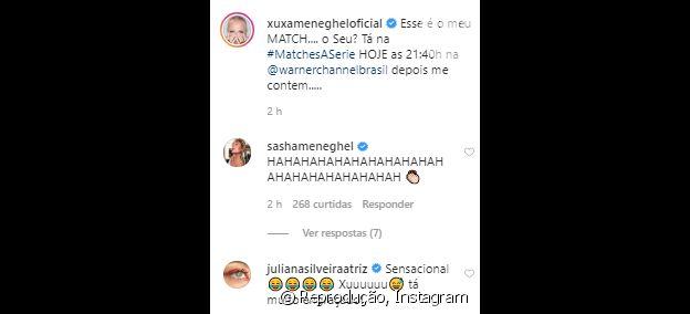 Sasha Meneghel se diverte com post da mãe, Xuxa, com foto de Juno Andrade com look inusitado