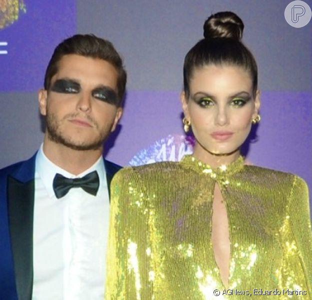 Camila Queiroz e Klebber Toledo prestigiam baile de máscaras da MAC cosméticos no Jockey Club de São Paulo, na noite desta quinta-feira, 05 de março de 2020