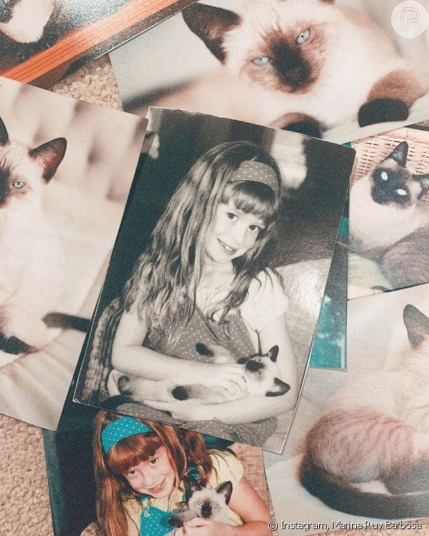 Marina Ruy Barbosa foi dona da gatinha Ruth por 17 anos