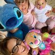 Ticiane Pinheiro revelou estar passando mais tempo com as filhas, Manuella e Rafaella, na quarentena