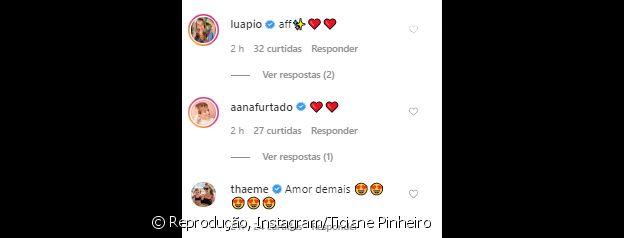 Famosos elogiam filha caçula de Ticiane Pinheiro em nova foto