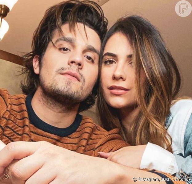 Luan Santana e Jade Magalhães exibem 1ª foto em casa nova!