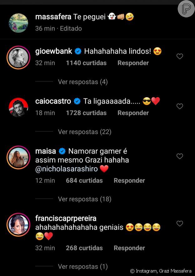 Foto de Grazi Massafera ganha comentários de amigos famosos do casal