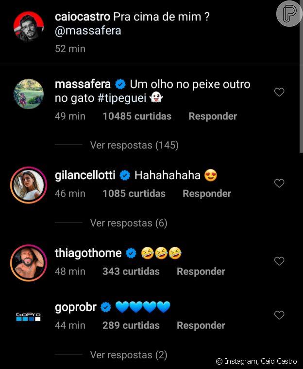 Caio Castro posta foto com Grazi Massafera e celebridades elogiam casal
