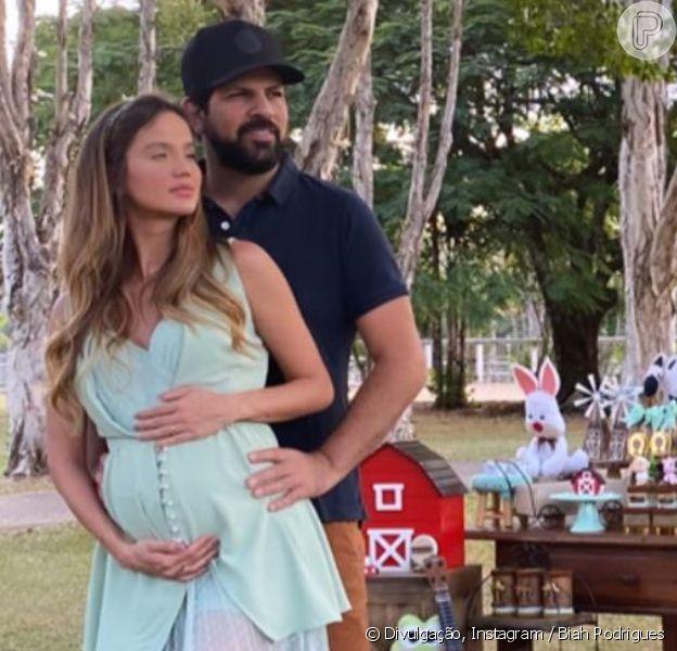 Cantor Sorocaba e a mulher, Biah Rodrigues, fazem chá de bebê para o primeiro filho, em 2 de maio de 2020