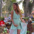 Biah Rodrigues escolheu look Lureh para o chá de bebê