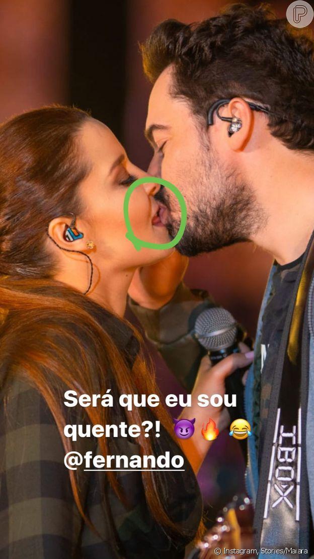 Beijo de Maiara e Fernando Zor tem detalhe apontado pela cantora