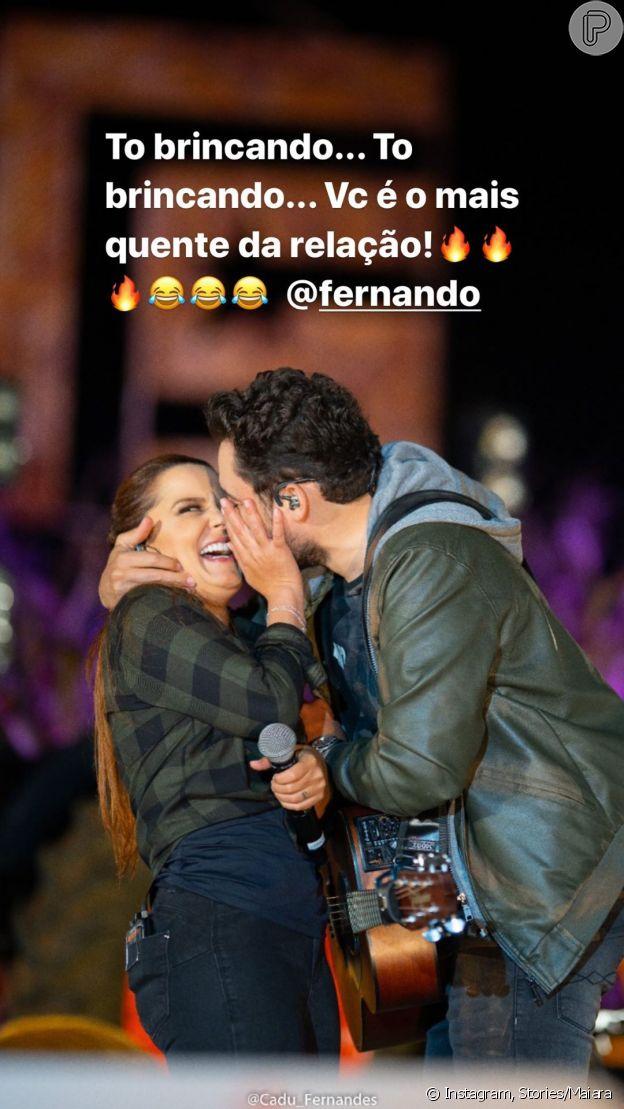 Maiara, dupla de Maraisa, posta foto de beijo no namorado, Fernando Zor