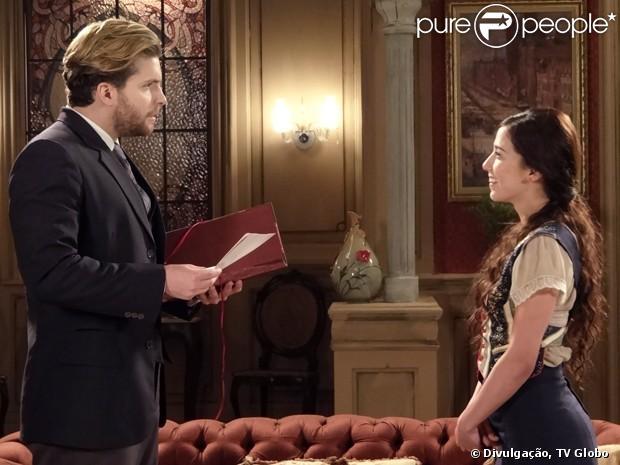 Edgar (Thiago Fragoso) prepara surpresa para Laura (Marjorie Estiano) no último capítulo de 'Lado a Lado', em 8 de março de 2013