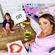 Ticiane Pinheiro tem passado mais tempo com as filhas durante a quarentena