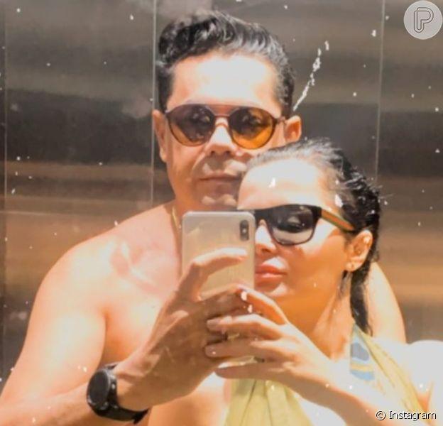Maraisa, da dupla com Maiara, curtiu cachoeira com namorado, Fabrício Marques, nesta quinta-feira, 4 de junho de 2020