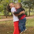 Patricia Abravanel postou momento fofo do caçula, Senor, com o irmão mais velho, Pedro