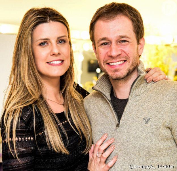 Tiago Leifert e Daiana Garbin escolhem nome da primeira filha