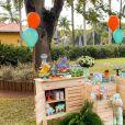 Biah Rodrigues e Sorocaba mostram decoração da festa do filho