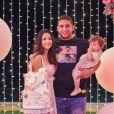 Filha de Juliano e Mohana do Couto, Maria Antônia completa 1 ano