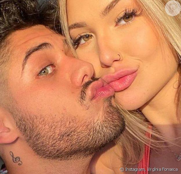 Zé Felipe e Virgínia Fonseca ironizaram boatos envolvendo a sexualidade do cantor