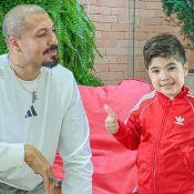 Filho de Fernando Medeiros brinca de boneca e ex-BBB apoia: 'Escolheu a Barbie'