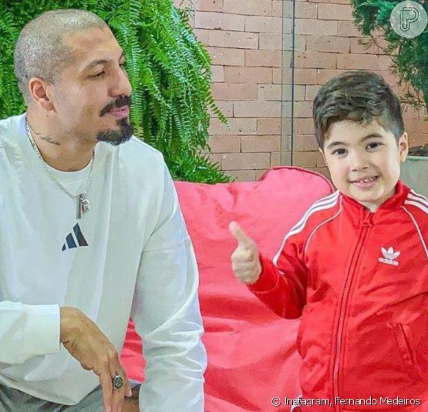 Fernando Medeiros mostra momentos de brincadeira do filho, Lucca, em vídeo