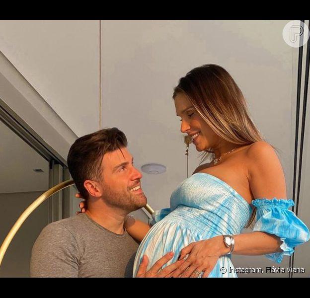 Flávia Viana deu à luz Gabriel nesta quarta-feira, 16 de setembro de 2020, em maternidade de SP
