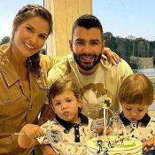 Andressa Suita mostra rotina de brincadeiras com filhos e Gusttavo Lima em casa