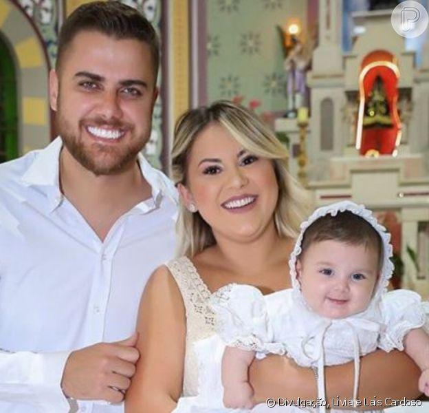 Veja fotos do batizado de filha de Zé Neto e Natália Toscano