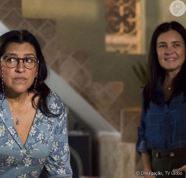 Na reta final da novela 'Amor de Mãe', Thelma (Adriana Esteves) sequestra Lurdes (Regina Casé)